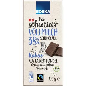 Edeka Bio Schweizer Vollmilch-Schokolade 100 g