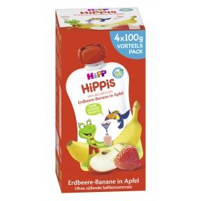 Hipp Bio Hippis Erdbeere-Banane in Apfel Vorteilspack