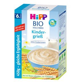 Hipp Bio Milchbrei Kindergrieß ohne Zuckerzusatz ab 6.Monat 2x 225G