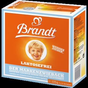 Brandt Der Markenzwieback Laktosefrei 225 g