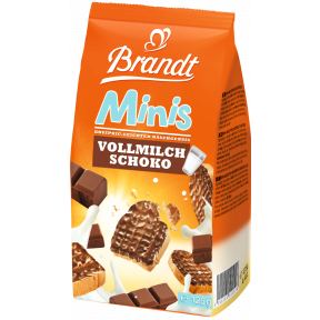 Brandt Zwieback Minis Vollmilch Schoko 125 g