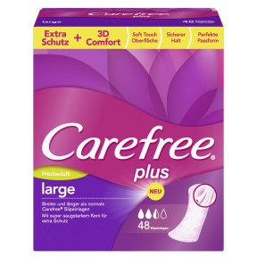 Carefree Slipeinlagen plus large mit Frischeduft