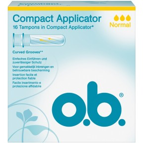 o.b. Compact Applicator Tampons normal 16 Stück