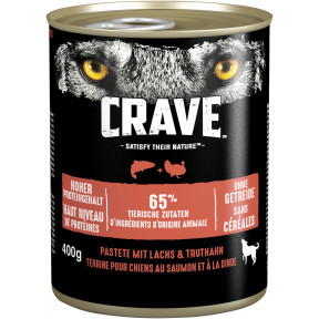 Crave mit Lachs und Truthahn Hundefutter nass 400G