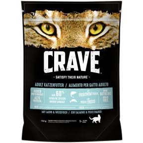 Crave Lachs & Weißfisch Katzenfutter trocken 750G