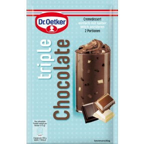 Dr.Oetker Cremedessert triple Chocolate