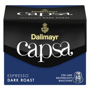 Dallmayr Capsa Espresso Dark Roast Intensität 11 Nespresso kompatible Kapseln 10x 5,6 g