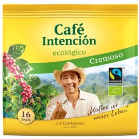 Darboven Bio Cafe Intencion ecologico Cremoso Fairtrade 16x 7 g