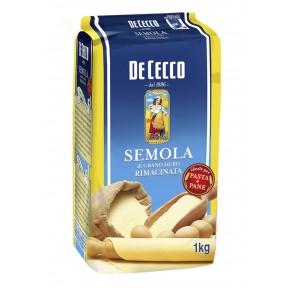 De Cecco Semola Rimacinata di grano duro Hartweizengrieß 1 kg
