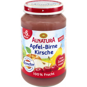 Alnatura Demeter Apfel-Birne-Kirsche ab dem 6.Monat 190 g