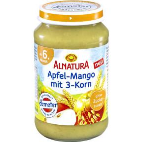 Alnatura Demeter Apfel-Mango mit 3-Korn ab 6.Monat 190 g