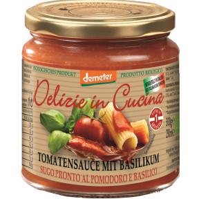 Demeter Bio Delizie in Cucina Tomatensauce mit Basilikum 300G