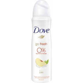 Dove Deo-Spray Go Fresh Pfirsich & Zitrone 0% Aluminiumsalze 150 ml