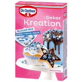 Dr.Oetker Dekor Kreation Blauer Mix 60G