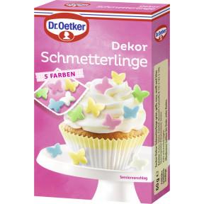 Dr.Oetker Dekor Schmetterlinge 5 Farben 60G