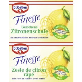 Dr.Oetker Finesse geriebene Zitronenschale 2x 6 g