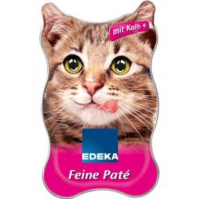 EDEKA Feiner Paté mit Kalb Nassfutter für Katzen 85 g