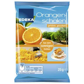 EDEKA Orangenschalen gerieben, gezuckert