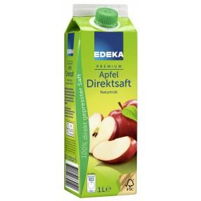 EDEKA Apfel Direktsaft naturtrüb 1 ltr
