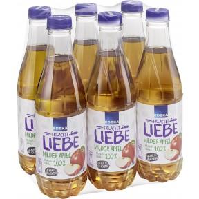 EDEKA Milder Apfel Saft 6x 1 ltr PET