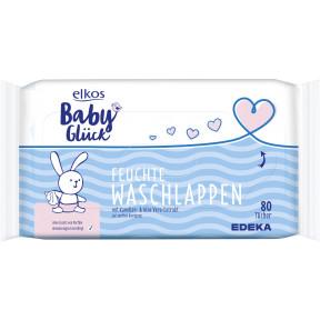 elkos Babyglück Feuchte Babywaschlappen 80 Stück