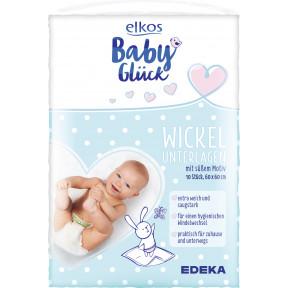 elkos Babyglück Wickelunterlagen 60x60cm 10 Stück