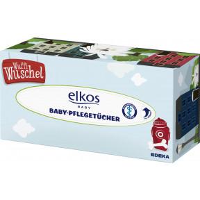 EDEKA elkos Babypflegetücher Wuffi Wuschel 100 Stück