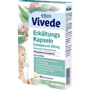 elkos Vivede Erkältungskapseln Eukalyptusöl 60 Stück
