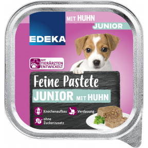 EDEKA Feine Patete Junior mit Huhn Hundefutter nass 150G