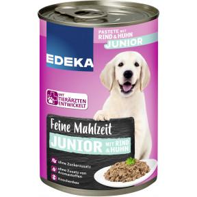 EDEKA Feine Mahlzeit Junior mit Rind & Huhn Hundefutter nass 400G