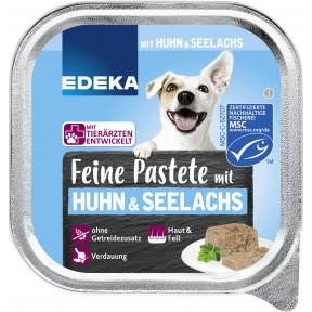 EDEKA Feine Pastete mit Huhn & Seelachs Hundefutter nass 150G