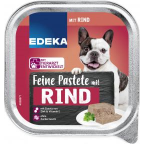EDEKA Feine Pastete mit Rind Hundefutter nass 300G