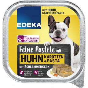 EDEKA Feine Pastete mit Huhn,Karotten & Pasta Hundefutter nass 300G