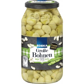 EDEKA Grosse Bohnen, weisse Kerne extra fein 660 g