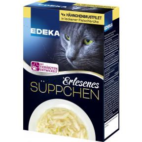 EDEKA Erlesenes Süppchen für Katzen 4x 40G