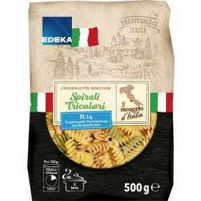 EDEKA Italia Nudeln Spirali Tricolori