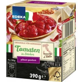 EDEKA Italia Tomaten in Stücken Pikant gewürzt 390 g
