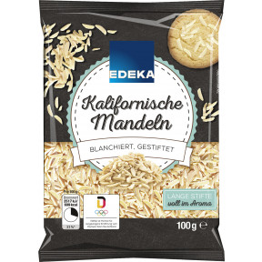 EDEKA Kalifornische Mandeln blanchiert, gestiftelt 100G