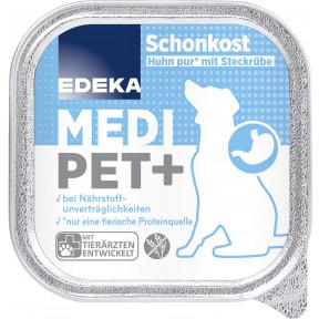 EDEKA Medi Pet+ Schonkost Huhn pur mit Steckrübe Hundefutter nass 150G