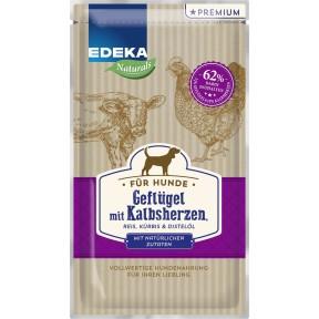 EDEKA Naturals Geflügel mit Kalbsherzen Hundefutter nass 125 g