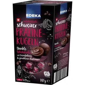 Edeka Schweizer Praline-Kugeln Dunkle Schokolade 147 g