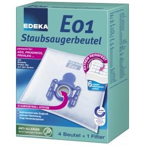 EDEKA Staubsaugerbeutel E01 4 Stück