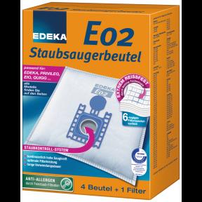 EDEKA Staubsaugerbeutel E02 4 Stück