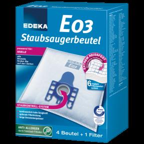 EDEKA Staubsaugerbeutel E03 4 Stück