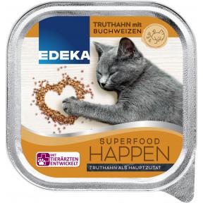 EDEKA Superfood Happen Truthahn mit Buchweizen Katzenfutter nass 100G