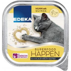 EDEKA Superfood Happen Huhn mit Quinoa Katzenfutter nass 100G
