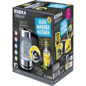 EDEKA zuhause Glaswasserkocher mit Easy Fill Deckel