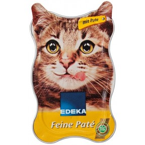 EDEKA Zarte Paté mit Pute Katzenfutter nass 85 g