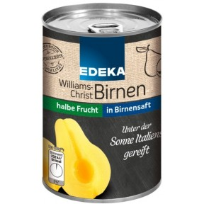 EDEKA Williams-Christ Birnen in Traubensüße halbe Frucht 410 g