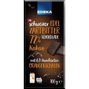 EDEKA Schweizer Edel Zartbitter Schokolade 72% Kakao